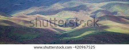 Boise, Idaho foothills - stock photo