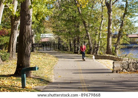 Boise, Idaho river trail - stock photo