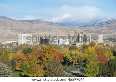Boise Skyline - stock photo
