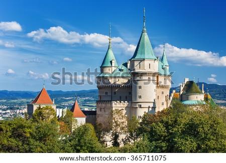 Bojnice castle (1103),Slovakia - stock photo