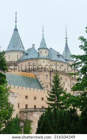 Bojnice Castle (Slovakia). Built in the 12th century, rebuilt in 1889-1910