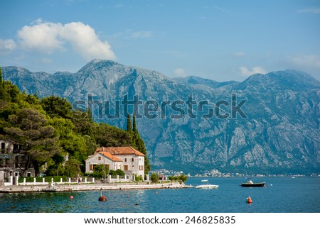 Boka Bay Montenegro Perast - stock photo