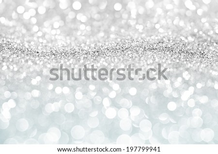 Bokeh abstract background wallpaper silver diamond for design - stock photo