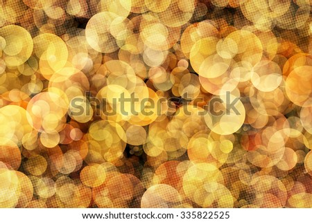 Bokeh Abstract Background With Halftone Pattern Illustration - stock photo