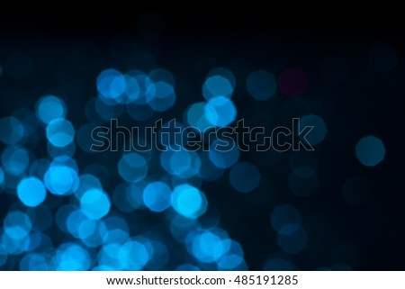 bokeh Abstract blue lights on background