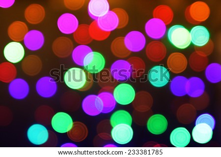 Bokeh. Abstract blurred light background - stock photo