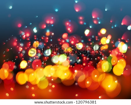 Bokeh. Abstract Christmas light background - stock photo