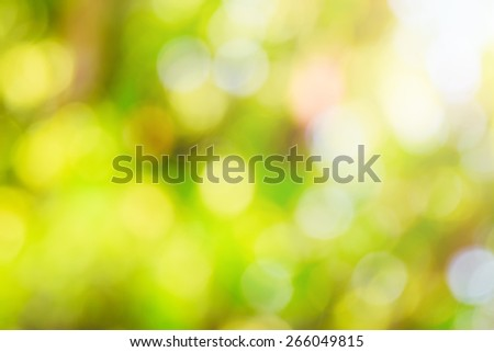 Bokeh background from green leaf light ray. eco concept - stock photo