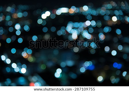 bokeh background night time cool feeling