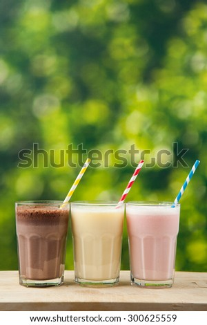 Bokeh Background on Milkshakes