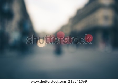 Bokeh background, street, road, light, people - stock photo