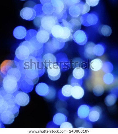 Bokeh Blue lights abstract background