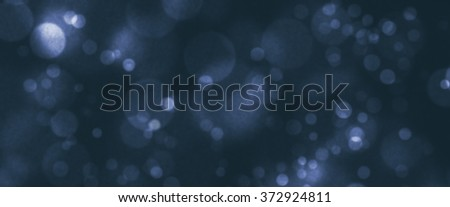 Bokeh Blurred Background representation of virtual abstract universe, outer space, orbit of planets - stock photo