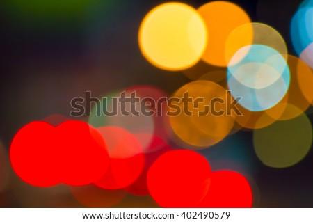 Bokeh car lights background - stock photo