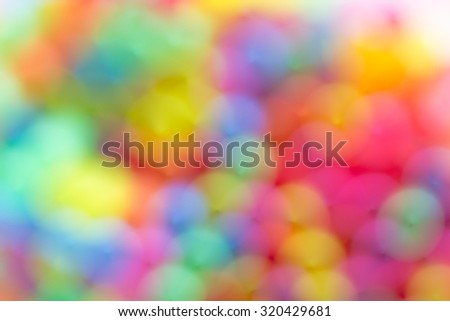 Bokeh Colorful plastic straws,Background
