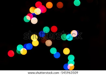 bokeh from Christmas garlands