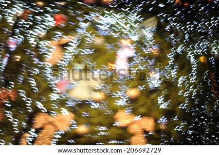 Bokeh from the lights at night. - stock photo