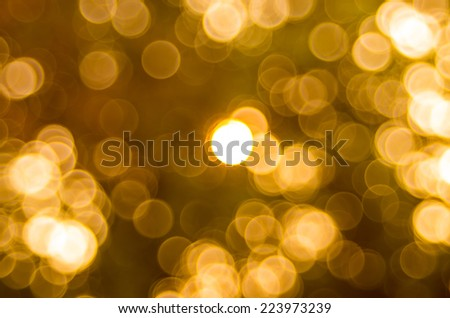 Bokeh gold colour abstract background. - stock photo