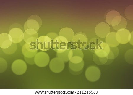 Bokeh green background