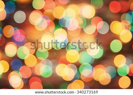 Bokeh. Holiday background blurry lights