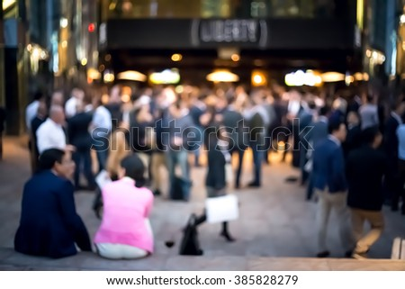 Bokeh images of business people lifestyle after work