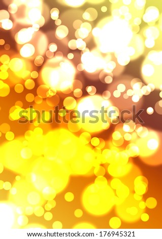 bokeh in golden tones