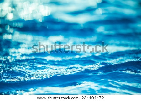 Bokeh light background in the pool. - stock photo
