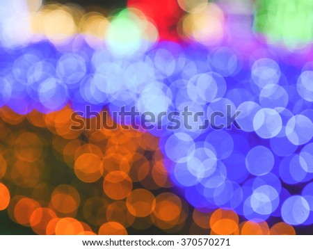 Bokeh light background.Vintage filter effect used. - stock photo