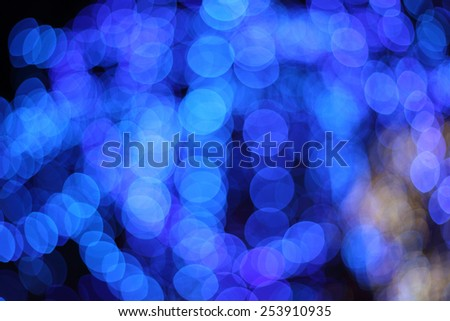 bokeh light blur of the LED lamp in the night - stock photo