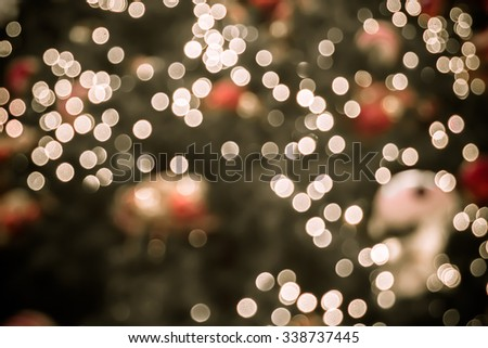 Bokeh light for decoration pattern or blur background for Christmas tree - stock photo