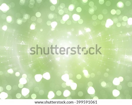 Bokeh light green abstract background.