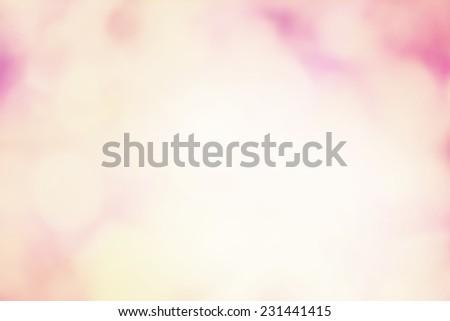 Bokeh Light on Pastel Background - stock photo
