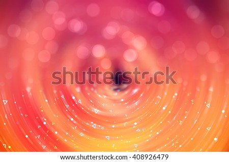 Bokeh light orange abstract background. - stock photo