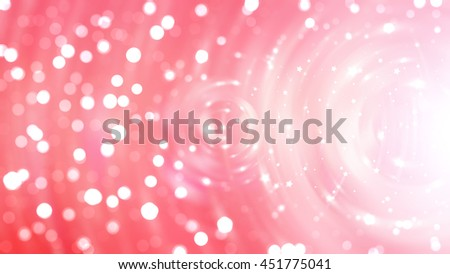 Bokeh light red abstract background.