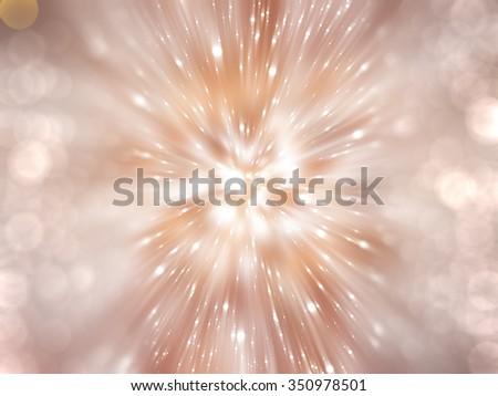 Bokeh light, shimmering blur spot lights on beige abstract background. - stock photo