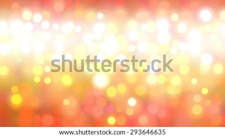 Bokeh light, shimmering blur spot lights on orange abstract background. - stock photo