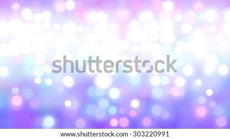 Bokeh light, shimmering blur spot lights on violet abstract background. - stock photo