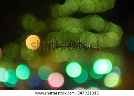 bokeh lights out of focus in the city - stock photo