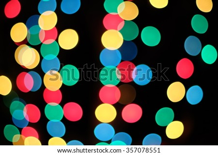 bokeh multi colour