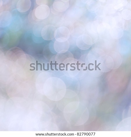 Bokeh. Natural background at dawn from the drops of dew - stock photo