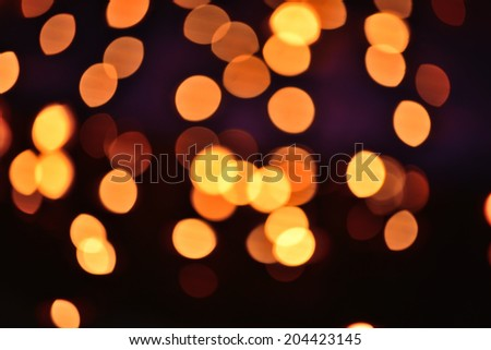 Bokeh of candles light - stock photo