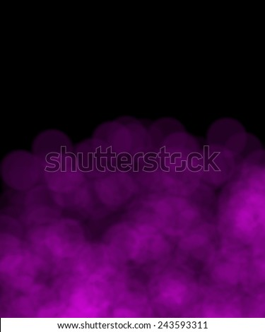Bokeh of Fireworks  purple Lights on black background with copy space - stock photo