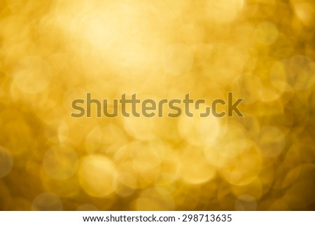 Bokeh of gold mirror with light from the light and sun - stock photo
