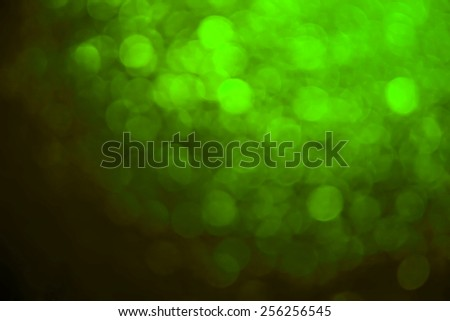 Bokeh of green mirror with light from the light and sun - stock photo