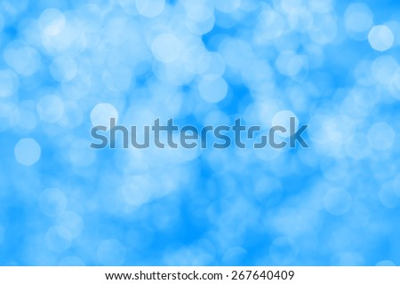 Bokeh of the blue color light, blurred background. - stock photo