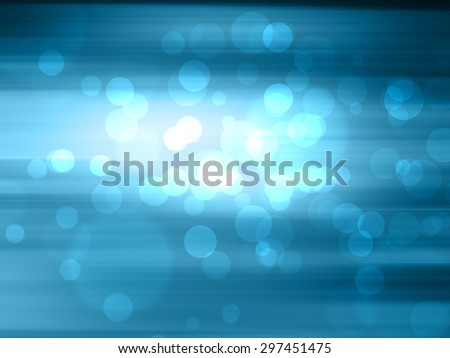 bokeh on blue blurred background