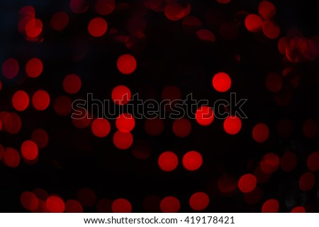 Bokeh red light abstract background - stock photo
