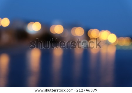 Bokeh street light background - stock photo