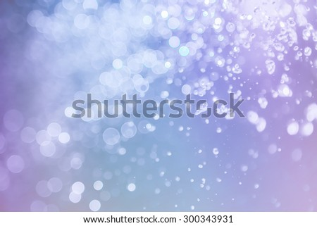 bokeh water with light elegant abstract background - stock photo