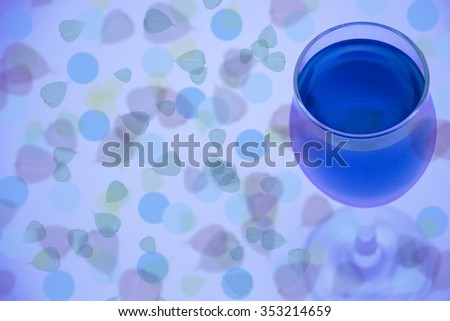Bokeh with blue glass 3
